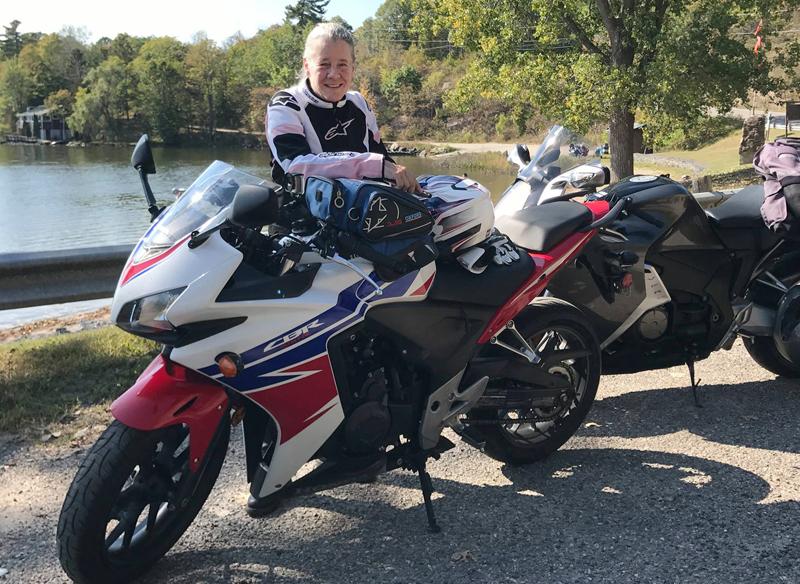 70 Years and Still Sport Riding Heather Honda CB500RA