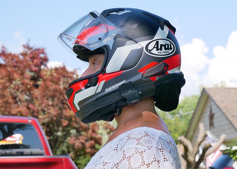 hightail bike hair protector eliminates tangles wind damage arai