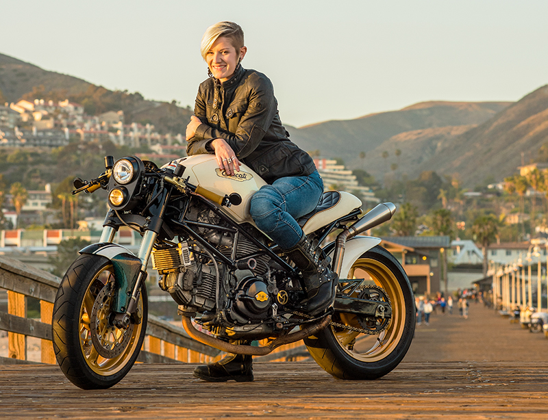 moto lady alicia elfving womens motorcycle show artist woman rider
