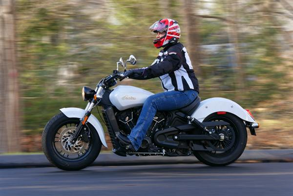 review 2016 indian motorcycle scout sixty riding left