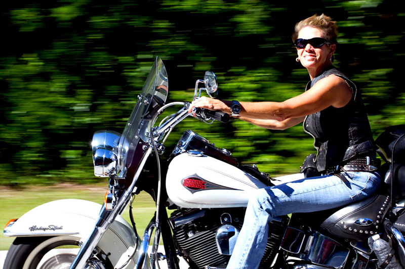 From Harley Chick to Indian Motorcycle Chieftain Rider heritage softail