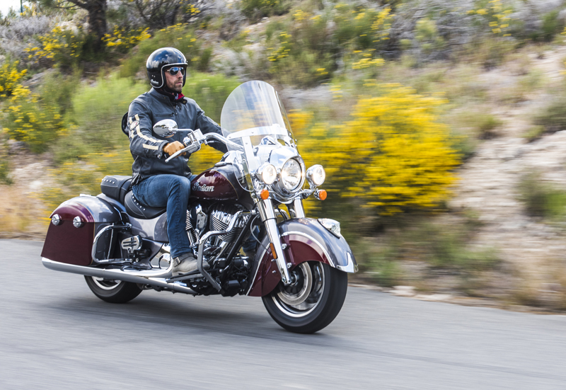 review 2016 2017 indian motorcycle springfield man riding
