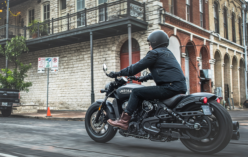 less is more indian scout bobber riding