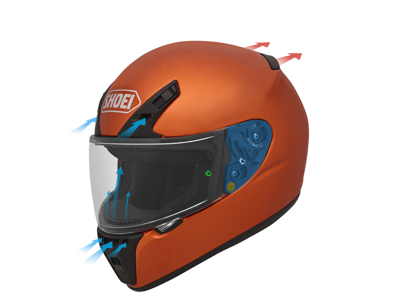 shoei rf-sr entry-level motorcycle helmet venting