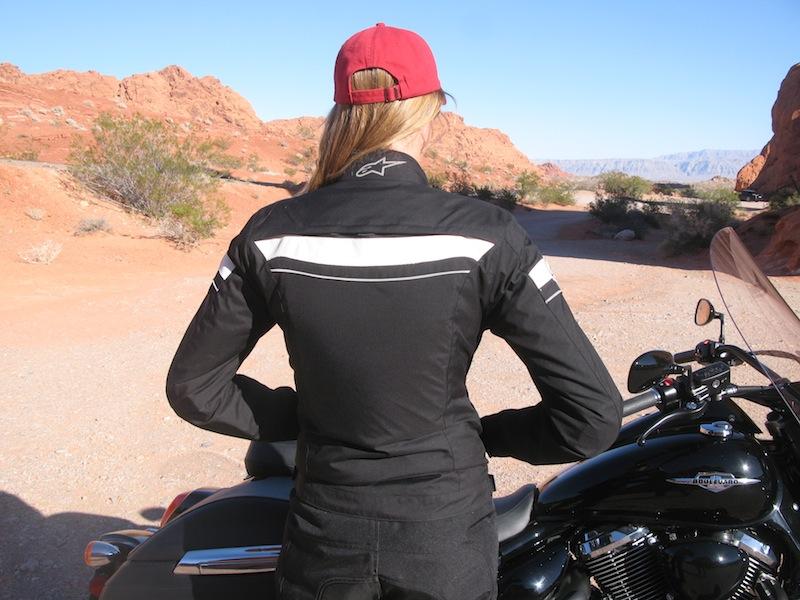 Alpinestars Stella T-Fuel Jacket Back on Rider