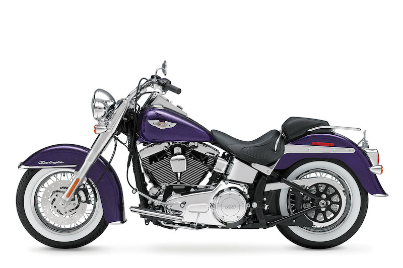 The 2014 Harley-Davidson Softail Deluxe has a seat height of 24.5 inches.
