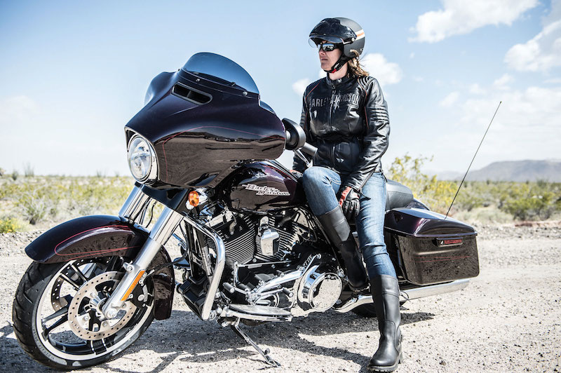 The 2014 Harley-Davidson Street Glide has a seat height of 26.1 inches