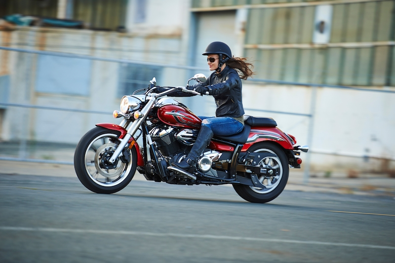 The 2014 Star Motorcycles V Star 950 with a seat height of 26.6 inches.
