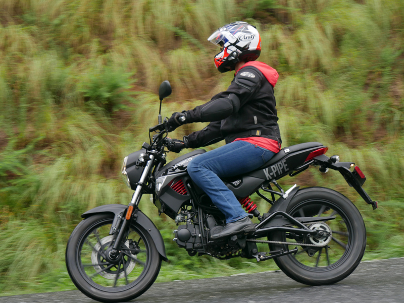 kymco k-pipe 125 small motorcycles big fun riding left