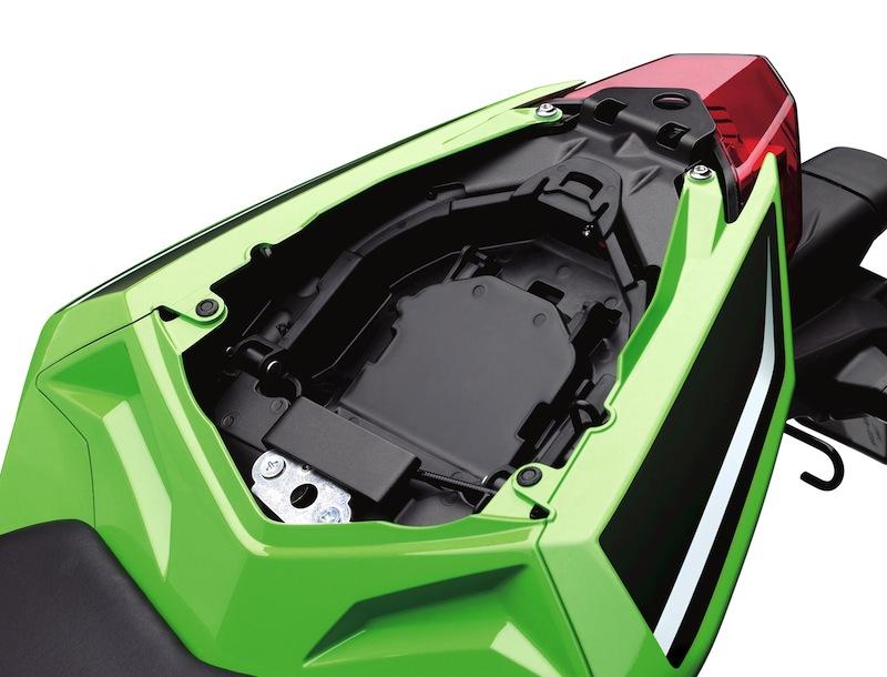 Kawasaki Ninja 300 Review Storage