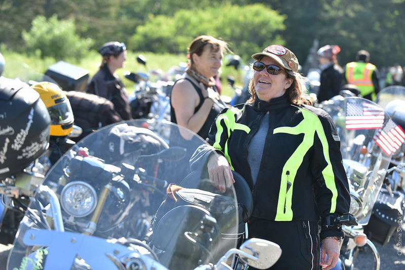 large scale womens motorcycle ride wraps up in san francisco durga krummer kawasaki vulcan nomad