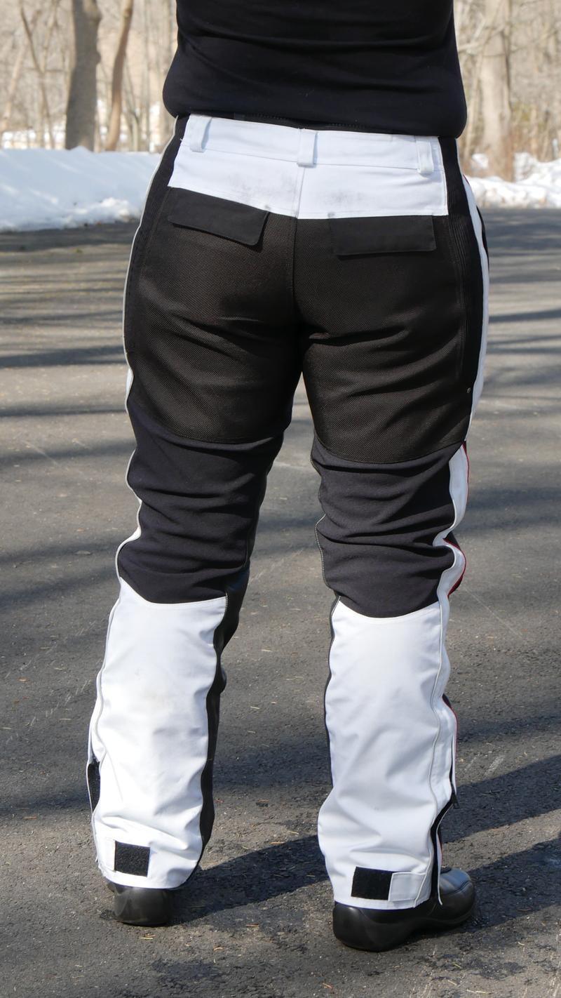 affordable technical 4 season motorcycle riding pants back pockets