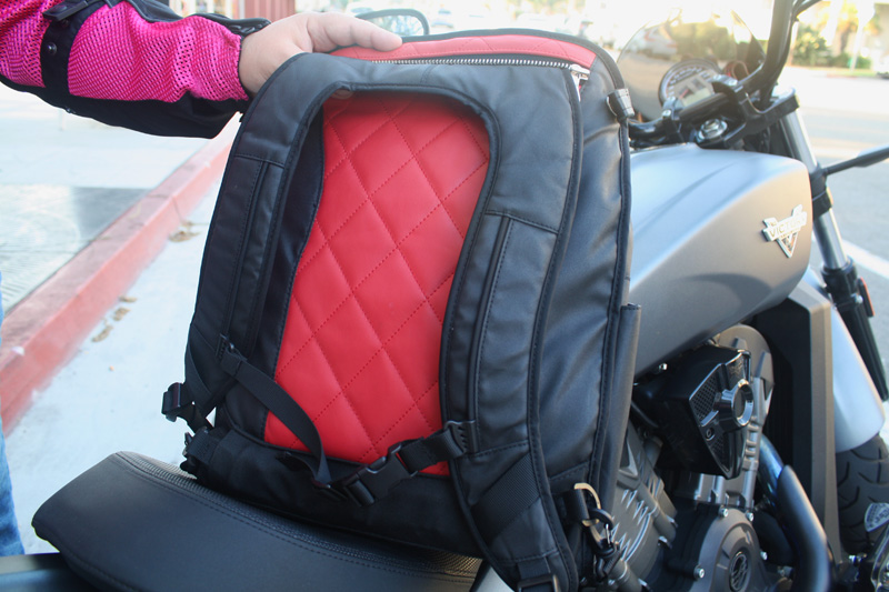 review the lauren bag by motochic backpack shoulder straps