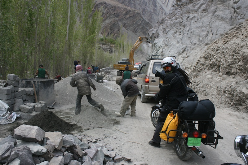Backroads with Betsy Motorcycling in the Himalayas landslide