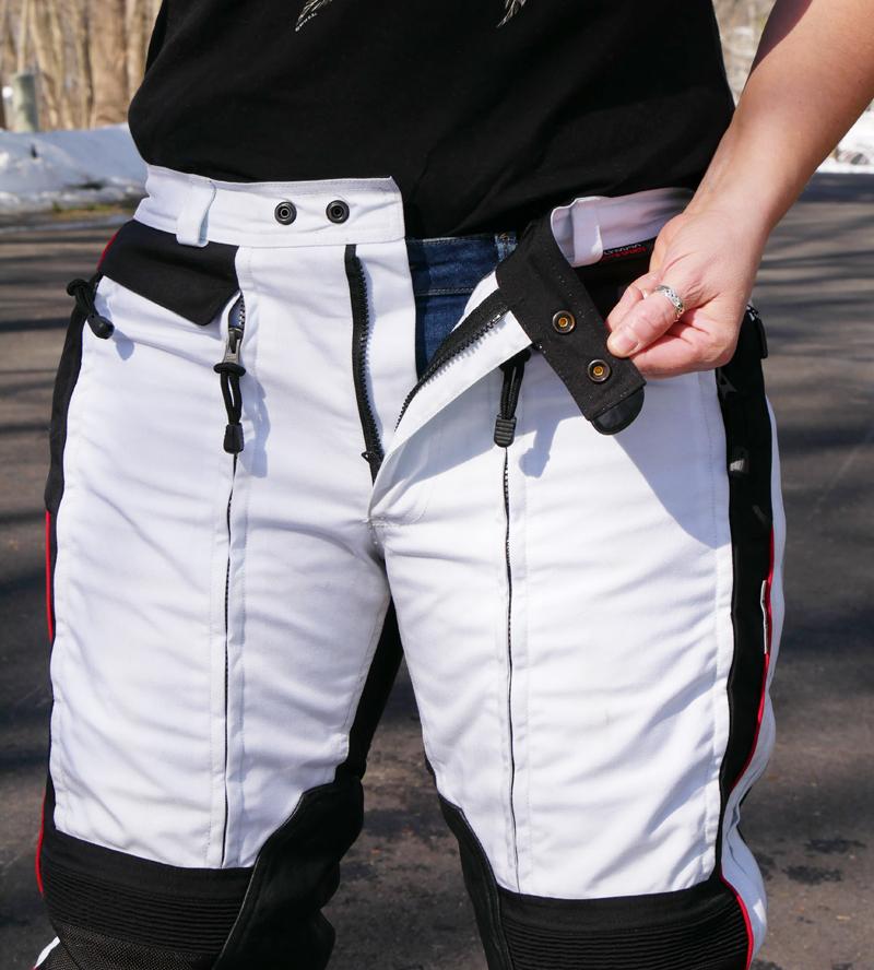 affordable technical 4 season motorcycle riding pants waist closure