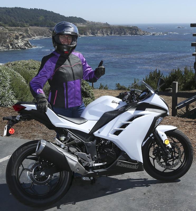Kawasaki Ninja 300 With Rider Standing