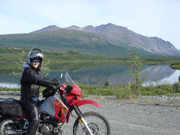 First Womens Tour Alaska Kawwasaki KLR650