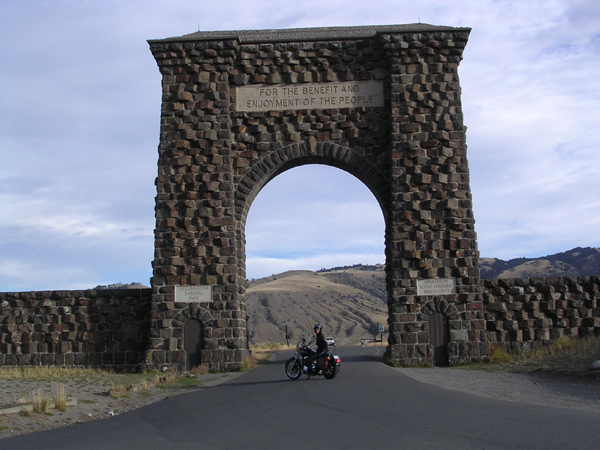 mountains every way you look yellowstone arch