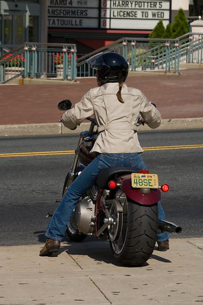 motorcycle review harley davidson rocker rear view