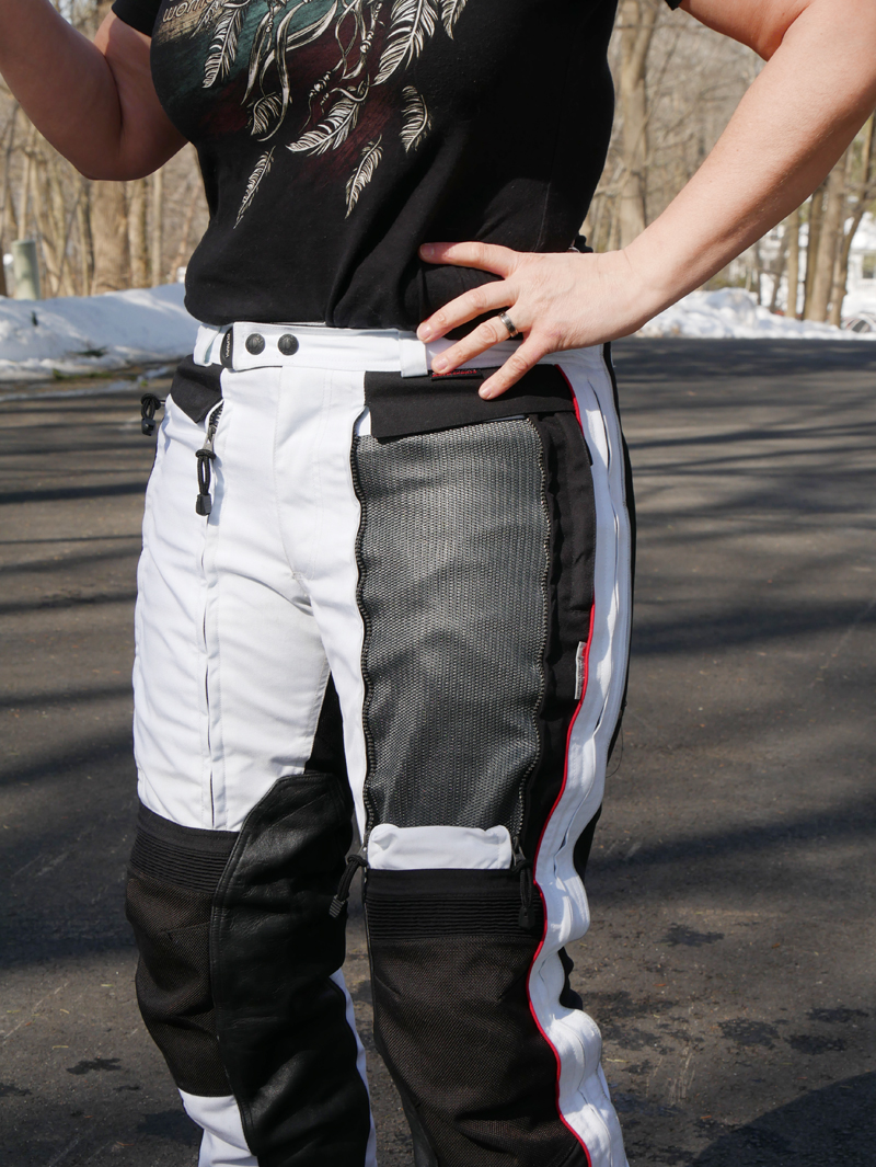 affordable techncial 4 season motorcycle riding suit pant open vent