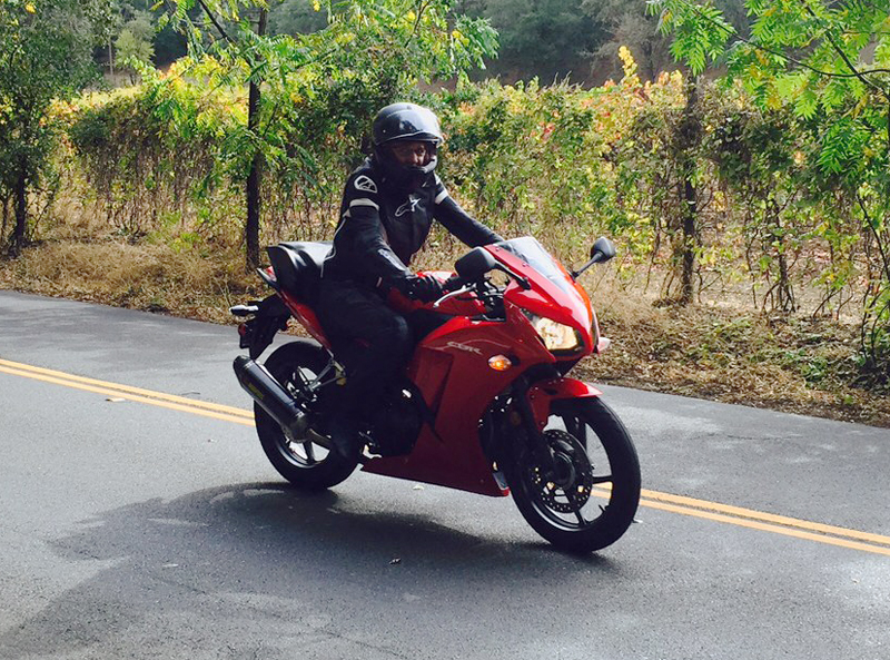 returning to motorcycling on a honda cbr300 sportbike jean riding