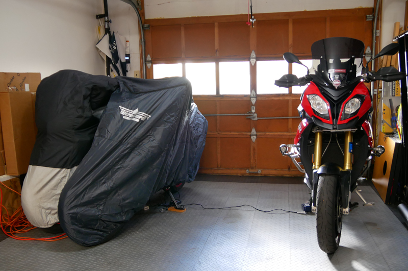 8 steps to prep your motorcycle for winter storage motorcycle cover suzuki BMW XR