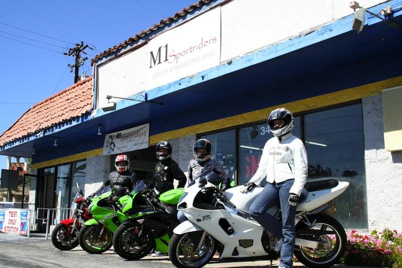 women sportbike riders group M1 sport riders