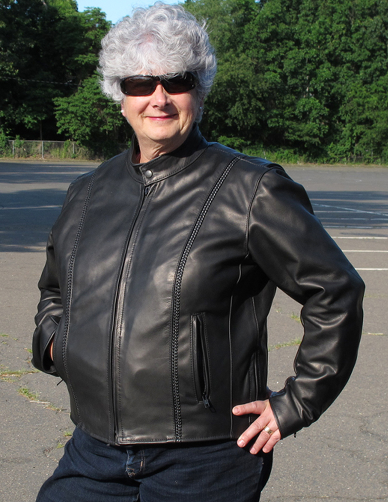 review leather motorcycle jacket with braided detail made in usa hot leathers