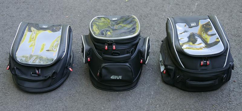 easy mount tank bags for standard sport sport-touring motorcycle GIVI XStream Tanklock