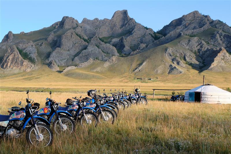 delivering Yamaha dual sport bikes to save the planet camp
