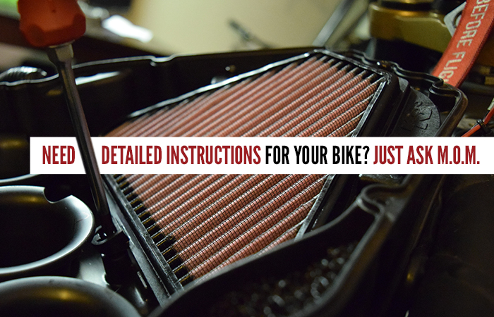 how to maintain your air filter on a motorcycle
