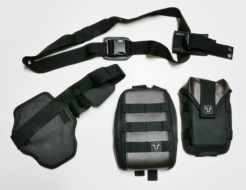 Lightweight bags that strap securely to your leg for on and off the bike sw-motech legend gear parts
