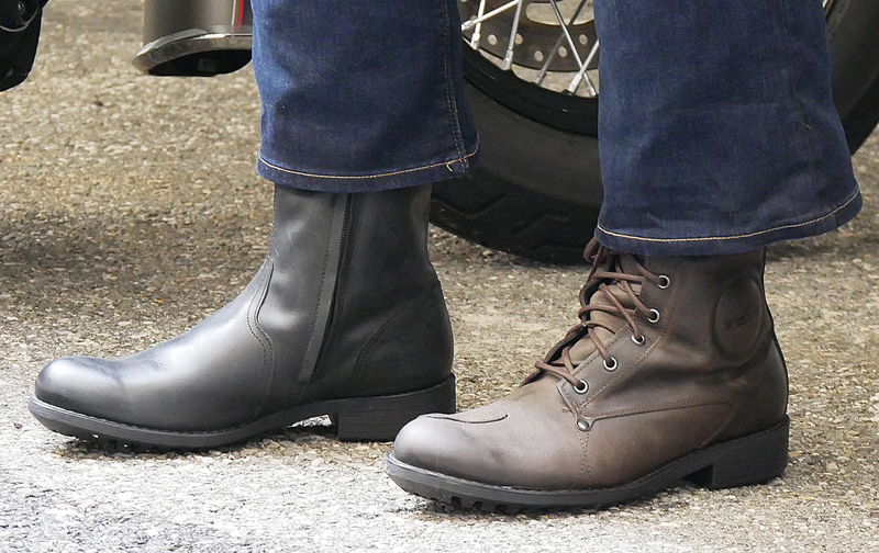 gear review tcx womens cafe race vintage motorcycle boots wearing