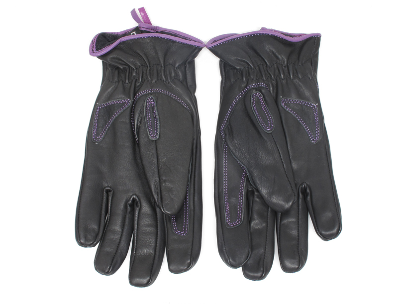 review comfortable functional inexpensive womens motorcycle gloves purple