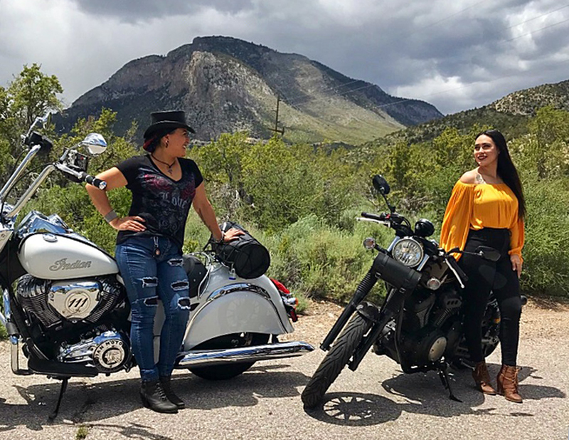 mother daughter riding motorcycles indian chief classic