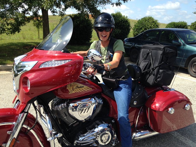 From Harley Chick to Indian Motorcycle Chieftain Rider touring