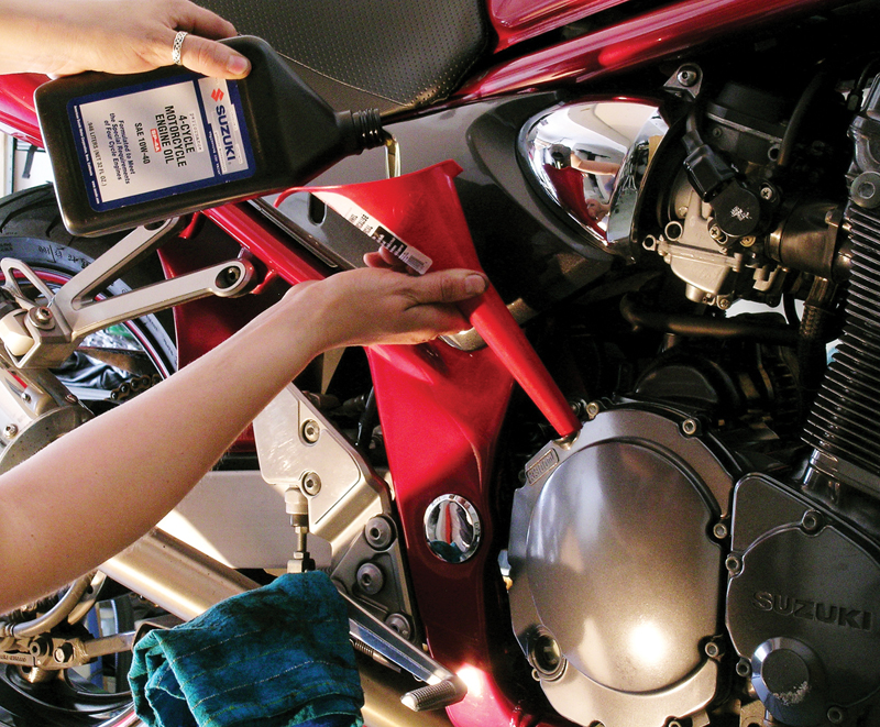 8 steps to prep your motorcycle for winter storage fresh oil