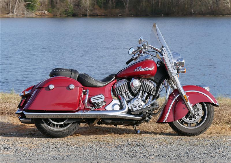 review 2016 2017 indian motorcycle springfield red