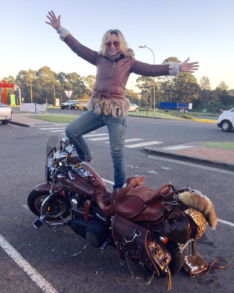 your motorcycles saddle brown iron pony chris keeble
