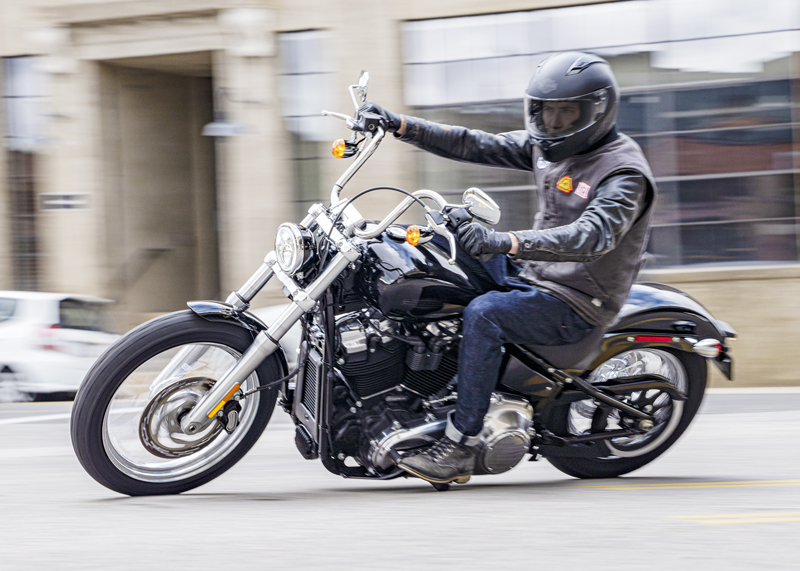 2020 harley-davidson softail standard first look man riding