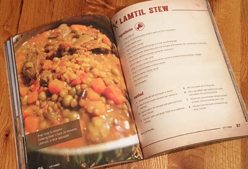book preview dirty dining by lisa thomas lamtil stew