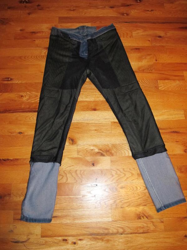 kevlar lined skinny jeans inside front
