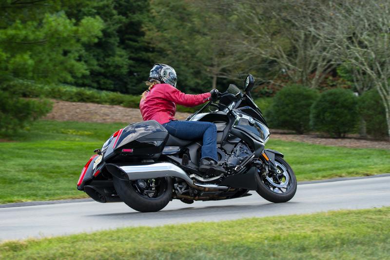 Petite Woman Ride Big Touring Motorcycle
