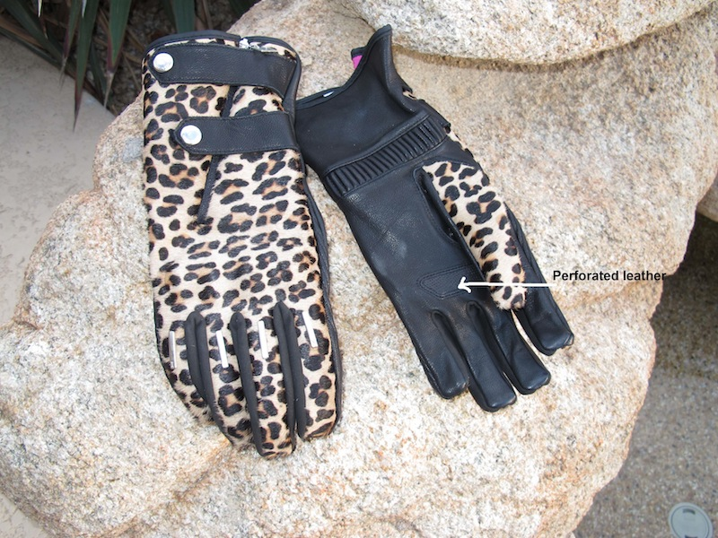Leopard Leather Riding Gloves