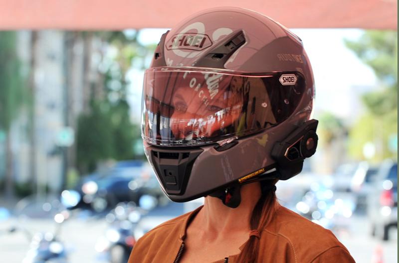 Review Sena 30K Intercom for Motorcycle Riders Side Helmet View