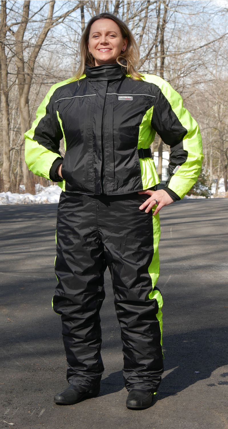 affordable technical 4 season motorcycle riding suit rain liner