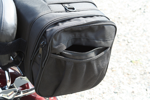 review dowco iron rider luggage side pocket