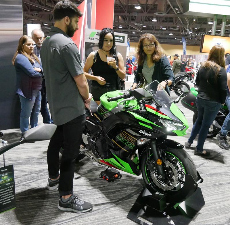 Progressive International Motorcycle Show Long Beach Kawasaki Ninja 650