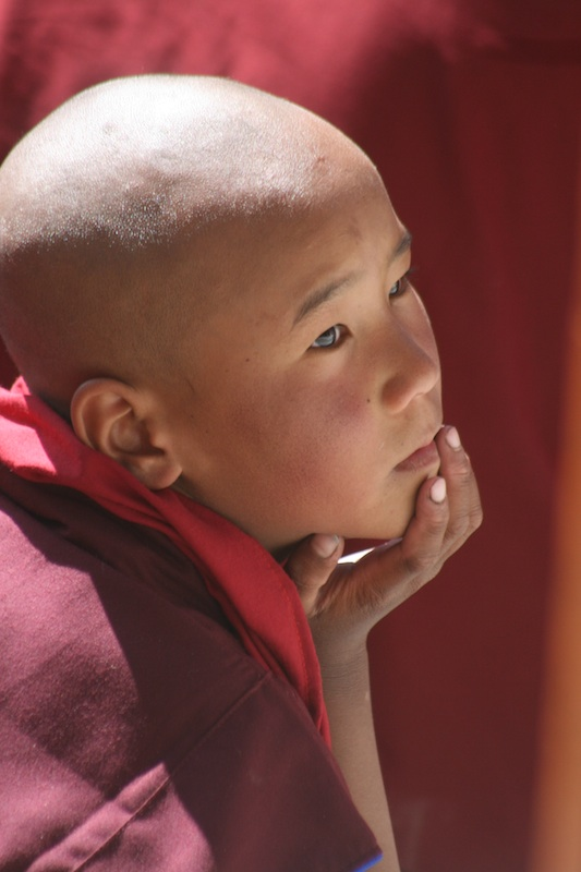 Backroads with Betsy Motorcycling in the Himalayas young Buddhist monk