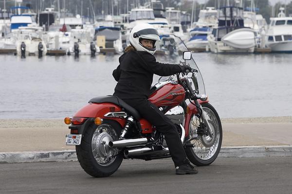 Options for lowering motorcycle seat height Honda Spirit 750
